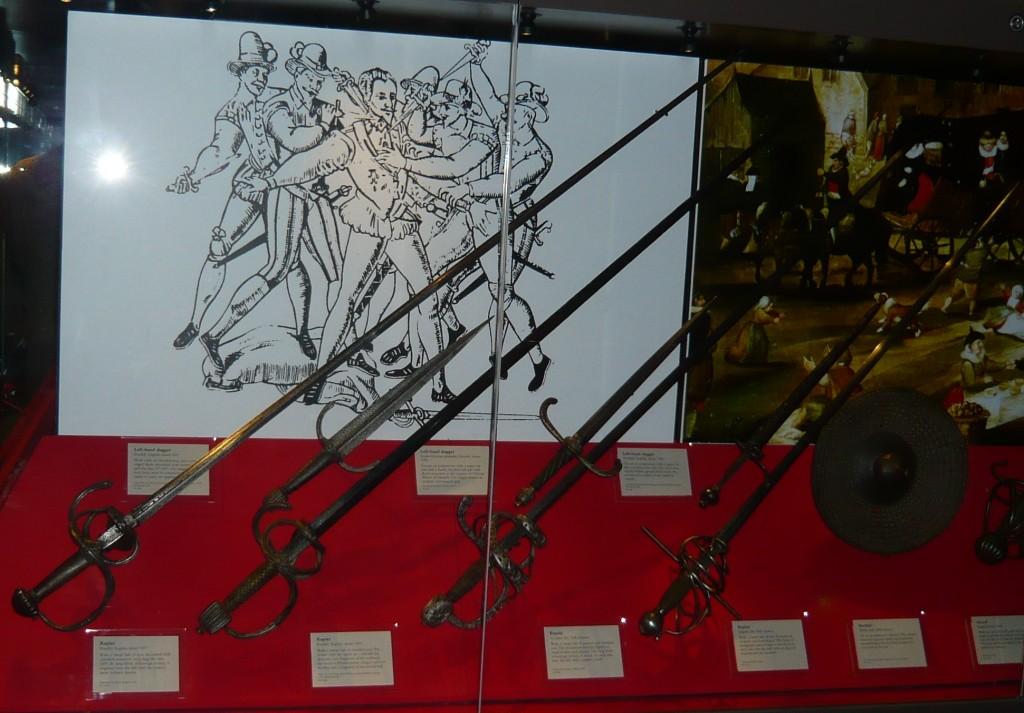 "C.1600 Rapiers, Dagger and a ""Welsh"" Buckler - Royal Armouries, Leeds, UK"