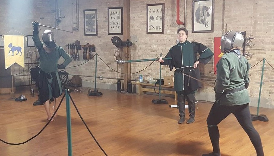 Scholar Jacques Marcotte challenges Rob to three blows of the side sword